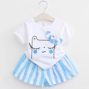 Other - NWT Cartoon Kitty Shorts set